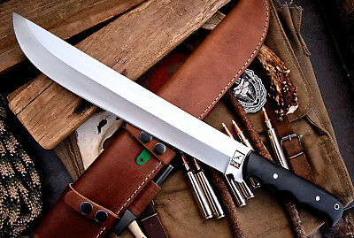 CFK USA AMAZON Custom Handmade D2 18-Inch TRAIL BOSS MACHETE Blade Knife CFK96