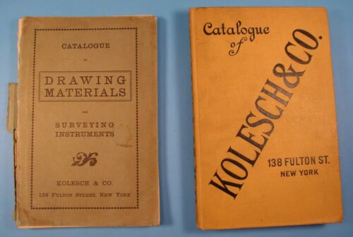 Set of 2 Kolesch Survey Instrument Catalogs 1909 & 1925