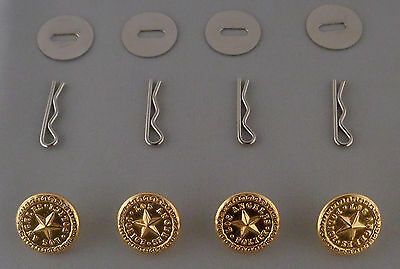 4 Los Angeles Police polished GOLD Uniform Buttons Small LAPD CA California