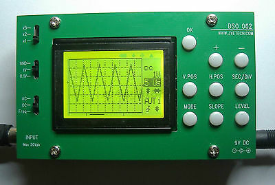 Dso062 Tft Digital Oscilloscope 1mhz Analog Bandwidth 20msas Diy Kits Probe