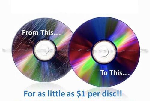 15 Mail-In Disc Repair CD DVD PS Wii XBox Fix Scratch Remove Resurfacing Service