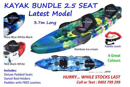2.5 Seater Fishing/Recreational Kayak Bundle