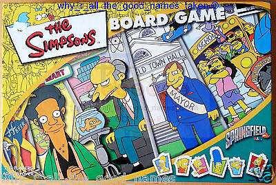 THE SIMPSONS Cartoon BOARD GAME Springfield USA 2000 - Excellent Used & Complete (Cartoon-board)