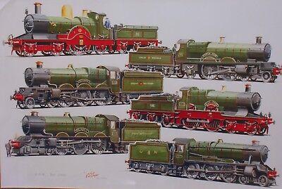 Artist G.S Cooper locomotive various photographs