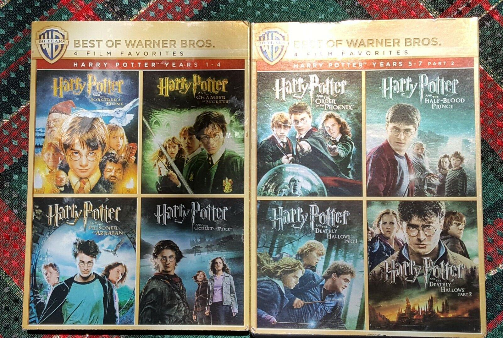 HARRY POTTER 8 MOVIE FULL SERIES DVD S - $6.00
