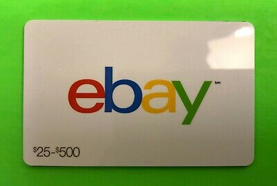 ebay Gift Card, white background, COLLECTIBLE, no value, $0
