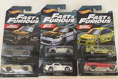 2019 HOT WHEELS FAST AND FURIOUS -  COMPLETE SET OF SIX CARS VHTF