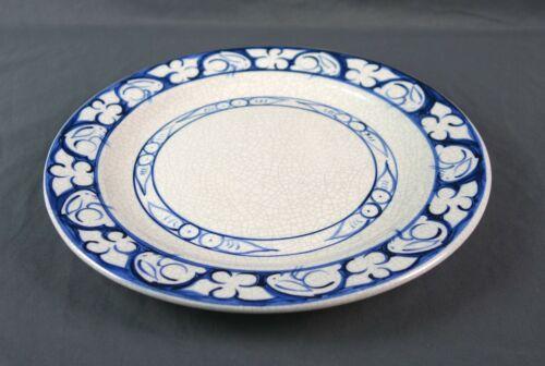 "Vintage Dedham Pottery Crackle Bunny Rabbit Plate 11 1/4"""
