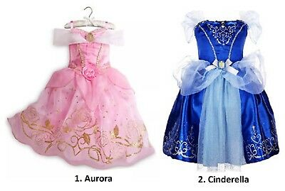 GIRL COSTUME RAPUNZEL AURORA CINDERELLA ELSA ANNA PRINCESS DRESS PARTY HALLOWEEN (Elsa & Anna Costumes)