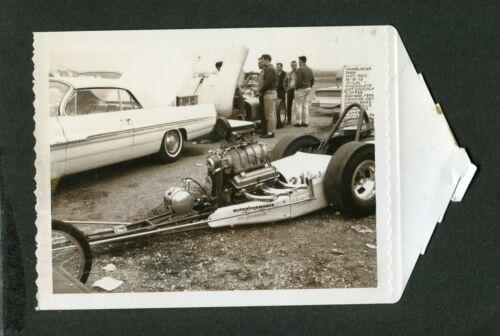 1960s Polaroid Photo Superformance Dragster 1962 Pontiac Car Drag Racing 423182