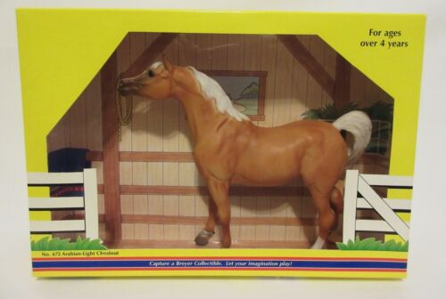 Breyer Classic Arabian Light Chestnut Stallion Brown Collectible Horse Toy #672
