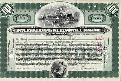 Titanic Stock Certificate Imm White Star Line Titantic