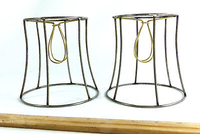 Custom Made Lamp Shades - Lamp Shades Pair Wire Frames Set 2 Custom Made NYC for Sconce Chandelier Clips