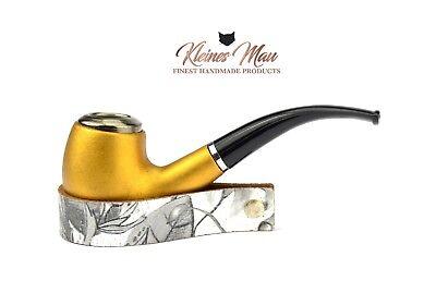 """Pfeifenständer """"Fleur Noir"""" aus echtem Leder - Handmade in D by KleinesMau"""