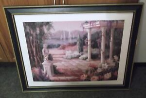 Framed Painting Wisteria Arbor by Maxine Johnston