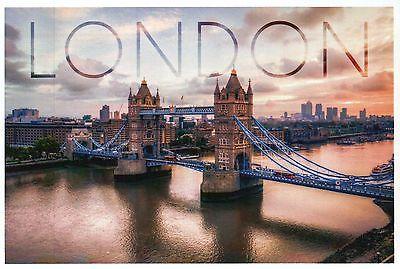 Tower Bridge London England, Thames, Great Britain, Suspension - Modern Postcard