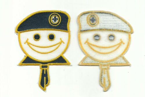 BJ SCOUT CANADA LARGE SMILING FACE CUB WITH BERET AND NECKERCHIEF CANADIAN PATCH