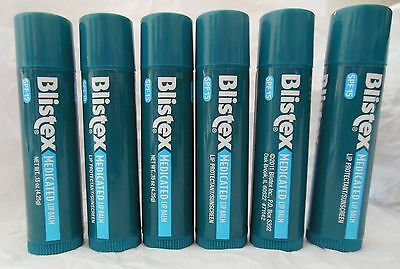 New X6 Blistex Medicated Lip Balm spf 15 Seals in Moisture 6 Sticks (Blistex Medicated Lip Balm)