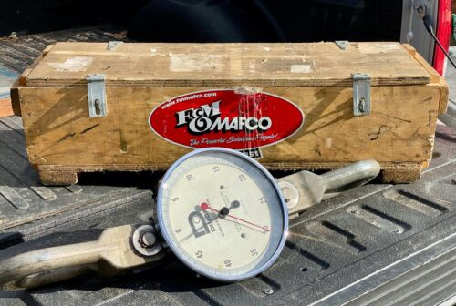 """Dillon Dynamometer 50,000lbs Force Gauge w/ 200 LBS Divisions & 10"""" Dial"""