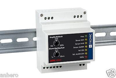 Water Level Sensor WPS4000, Min/Max Switching - Top-Hat Rail Installation
