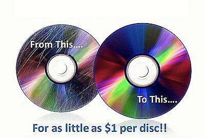 5 Disc Repair Resurfacing Scratch Removal Cleaning Service DVD Blu-ray CD Games