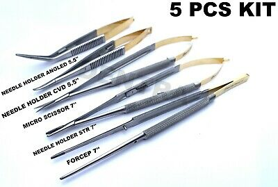 Dental Micro Surgery Implant Castroviejo Needle Holder Scissor Forcep Tissue Kit