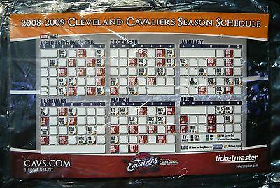 2008-09 NBA Cleveland Cavaliers Magnet Schedule SGA Quicken Loans Arena NEW/MINT Cleveland Cavaliers-magnet