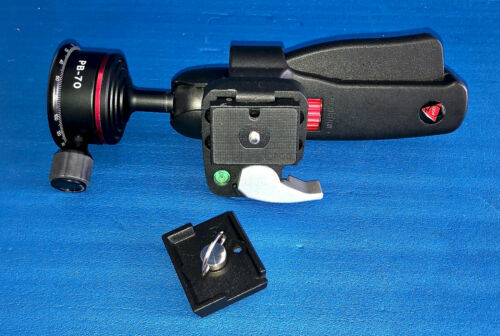 3Pod Pistol Grip Ballhead with Feisol Panning Base  & Two Quick Release Plates