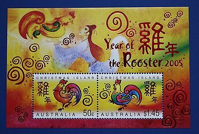 Christmas Island (1490b) 2005 New Year - Year of the Rooster MNH minisheet