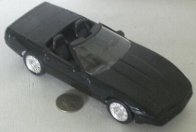 "Plastic Promo Car 1995 Chevrolet Corvette  Black 7"""
