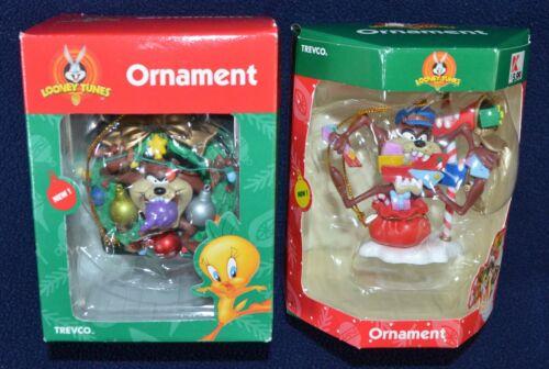 Looney Tunes Trevco Tazmanian Devil Taz Christmas ornaments in box Lot