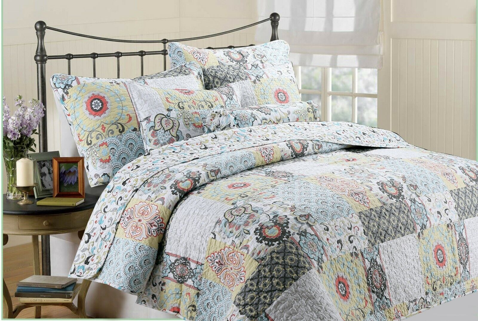 moorea reversible quilt set bedspread coverlet