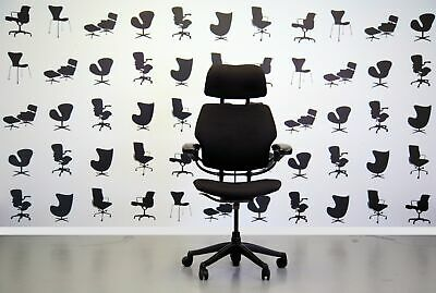 Refurbished Humanscale Freedom High Back Task Chair -black