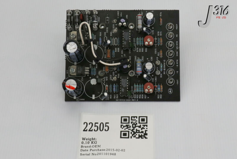 22505 Condor Pcb Assy 02-91113-0001