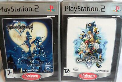 """SONY PLAYSTATION 2 PS2 Complete """"KINGDOM HEARTS 1 & 2 (II)"""" PLATINUM  FREE P+P"""