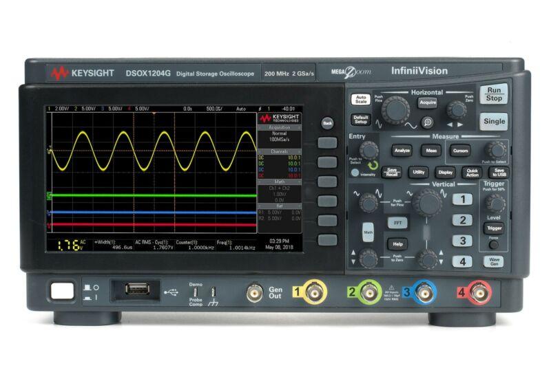 Keysight DSOX1204G InfiniiVision 1000 X-Series Oscilloscope w. WaveGen, 70 MHz