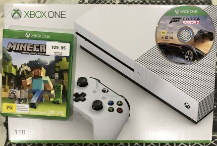 Xbox one s with games.