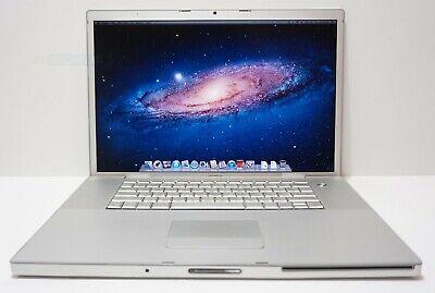 "Apple MacBook Pro Core 2 Duo 2.4GHz 4GB RAM 160GB 17"" MA897LL/A GeForce 8600M GT"