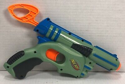 Nerf Tech Target Gun Eliminator Old Mega Dart Pistol 2003 Single Shot Green