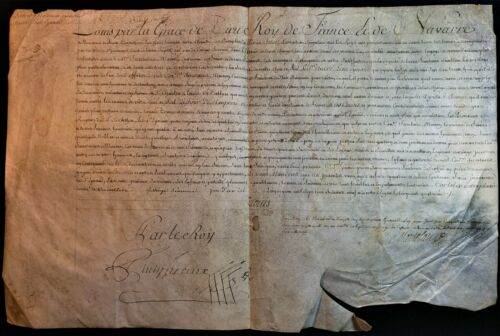 KING LOUIS XV AUTOGRAPH - LETTER OF HONOR GRANTED TO SIR ANDRE-LEON EYNAUD 1769