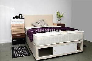 Small double single double king luxury divan bed with for Super king size divan bed with storage