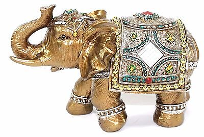 "Feng Shui 7"" Elegant Elephant Trunk Statue Lucky Figurine Gift & Home Decor"