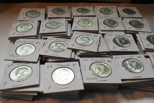 1964 Kennedy Half Dollars in Flips XF or + Silver Junk Face Halves Set Lots