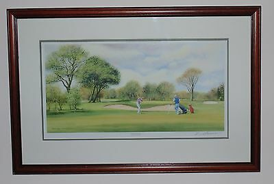 Sunday Golf Print - Signed Terry Harrison - Framed Picture Collectable