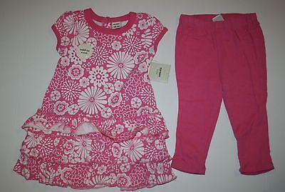 Neu Old Navy 2 Teile Ziemlich Floral Krause Kleid Leggings Set Größe 18-24 - Ziemlich Rosa Kleid