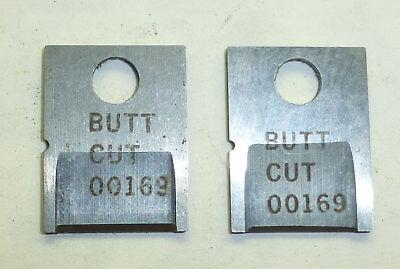 Set Of Butt Cut Cutter Blades - Eubanks 2600 2700 Wire Stripper 00169