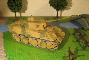 """Char PANTHER Tank - Maquette 1/76 1/72 Model Peint Painted WWII WW2 - Airfix - France - État : Occasion : Objet ayant été utilisé. Consulter la description du vendeur pour avoir plus de détails sur les éventuelles imperfections. Commentaires du vendeur : """"Modle en plastique monté et peint au 1/72e d'un char allemand Pz. Kpf - France"""