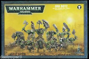 Warhammer 40K Ork Boyz Miniatures New & Sealed
