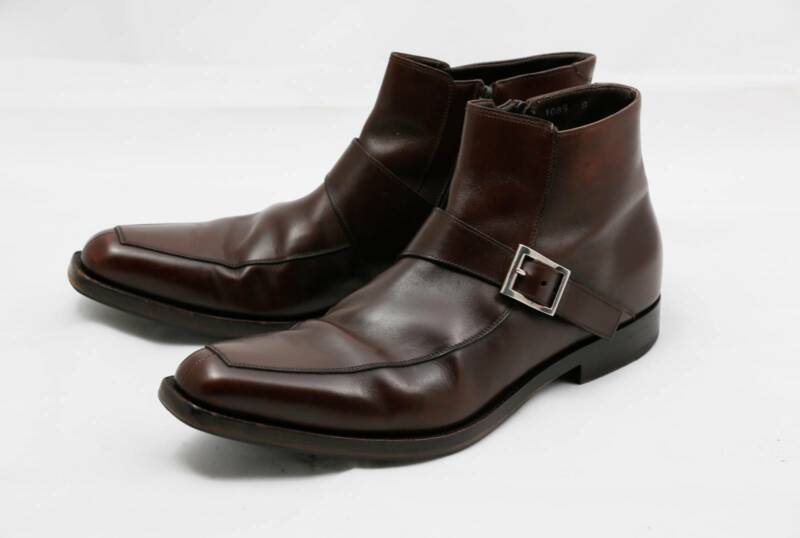 969d26f93 PRADA Boots GENUINE Mens 9 (fits like 10) Dark Brown Leather ...