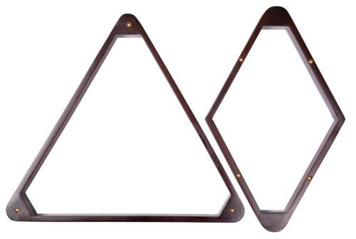 15 + 9 Wood Pool Table - Billiard Ball Rack Mahogany, Dark Oak or Black